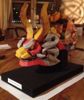 King of Red Lions wooden papercraft by Teris-DA
