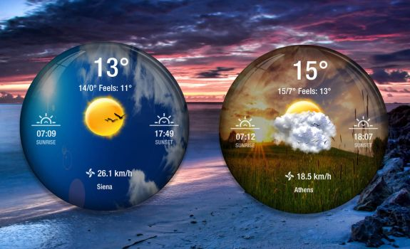 Crystal Ball Weather for xwidget by Jimking