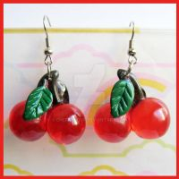 Cherry Earrings by cherryboop
