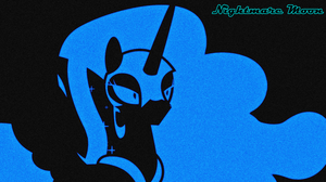 Outlined Wallpaper 2: Nightmare Moon by QuanXaro