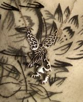 Winged Wolf Guardian-necklace by Destinyfall