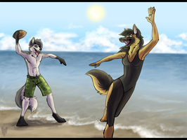 At The Beach by Tsebresos