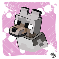 Minecraft Wolf by rainyfurz