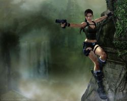 Lara Croft - Climb 2 by Halli-well