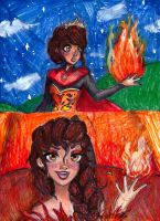 fire elsa let them burn by NENEBUBBLEELOVER