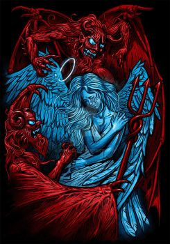 angel and demons by Firnadi