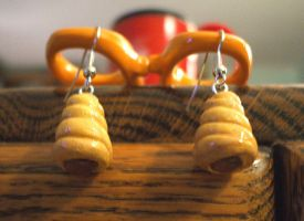 Choco-Coronet Earrings by Red-Flare