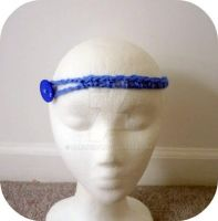 blue hipster headband by AAMurray