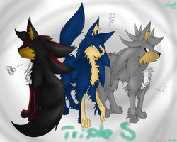 Wolf Triple S (Collab)~ by Larka-Lover