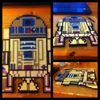Perler beads R2D2 star wars by L000lz