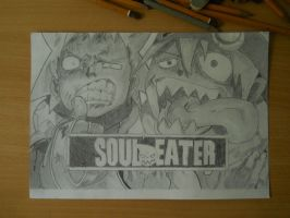 Soul Eater: Black Star and Soul by kyterro