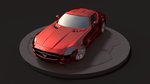 Mercedez Benz - SLS AMG coupe 2012 Pose 1 by kavinakallu