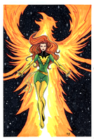 Phoenix Hand Colored Art by RichBernatovech