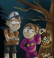 Gravity Falls - Dipper and Mabel Pines by Tahkyn