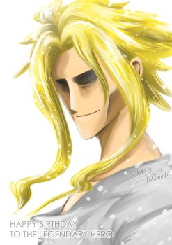Happy birthday to the Legendary Hero, All Might by shevoj