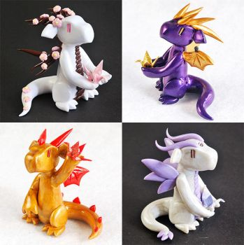 Paper Crane Dragons by HowManyDragons