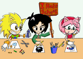 I hate school by Messengerrobo