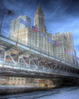 Frozen Chicago River I by spudart