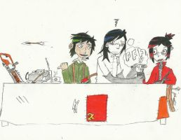 a gloryus tea time with ace and comrades by greymenace