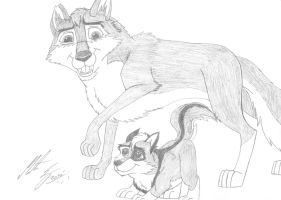 Fang and Kitara - Father and son by MortenEng21