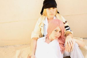 Snow and Serah FF XIII Cosplay by Phadme