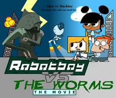 Robotboy vs The Worms by dra2k4