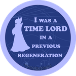 I was a time lord button by TwinEnigma