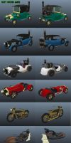 Steampunk Vehicles by Shadowleaper