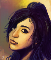 Another portrait for Salma by theLazyLion