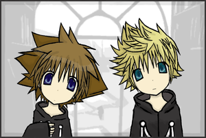 Sora_and_Roxas_by_Mergic_and_Tor