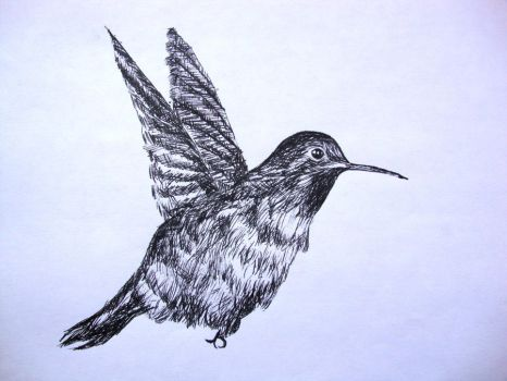 Ink Ice Bird by phiea