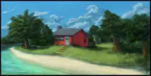 Little Red Cottage by Temiree
