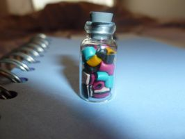 Miniature Dolly Mixture Jars by MadameMalaki