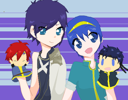 Roy, Chrom, Marth and Ike by Ca14