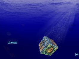 sinking cube wallpaper by PSRADICH