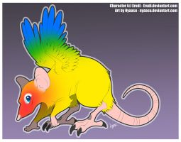 Sun Conure Rat Hybrid - Adopted! by Nyaasu