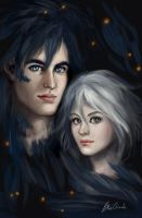 Sophie and Howl by feavre