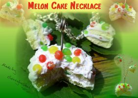 Melon Cake Necklace by cherrybasket