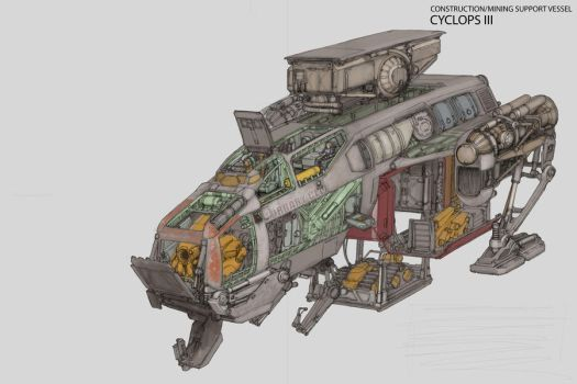 Construction Ship WIP 2 by MikeDoscher