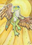 The Sacred Amphibian-Aceo by rohirrimshadow