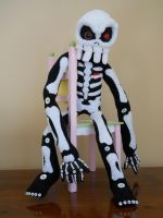 Skeleton Sock Doll by GhoulieDollies