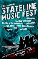 STATELINE MUSIC FEST POSTER by MENTAL-images