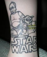 Star Wars Tattoo part 1 of 3 by GreenHeethar