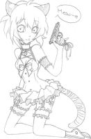 Sketch: Mew Anzu by Prisma-Fox