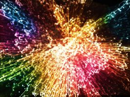 Digital Colorful Firework by SubhadipKoley