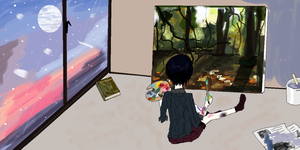 Child Uryu painting. by bubbamax1990