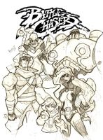 Battle Chasers pencil by masked-ramen