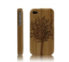 Best Handmade Carved Bamboo iPhone 4/4s Cases- A B by tracylopez