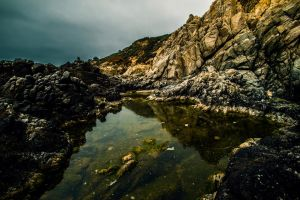 Tide Pool Reflection by 5isalive