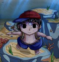 Swiming Ness by Lady-of-Link